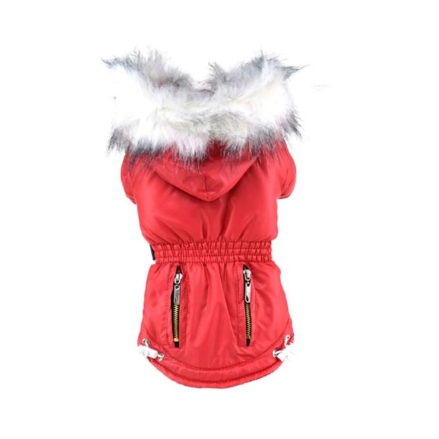 kurtka czerwona
